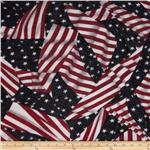 0263582 Onion Skin Knit American Flag Red/Blue