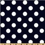 Riley Blake Dots Medium Navy