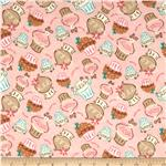 Sweet Treats Cupcakes Flannel Pink