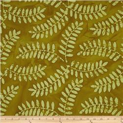 Indian Batik Arcadia Palm Leaf Gold
