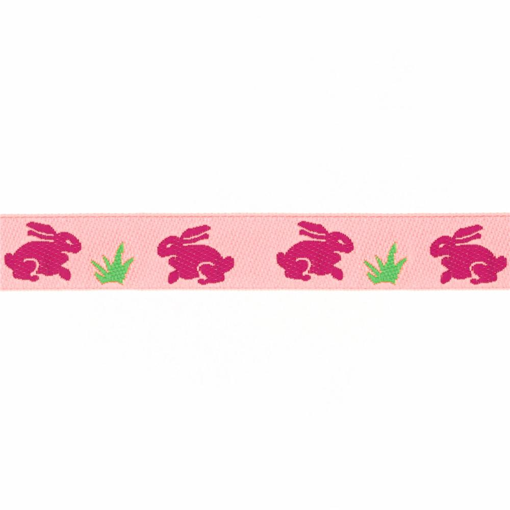 5/8'' Ribbon Bunnies Pink