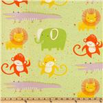 ER-614 Safari Sweet Organic Animals &amp; Dots Lime