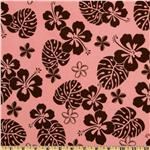 Aloha Flannel Floral Petal Pink/Brown