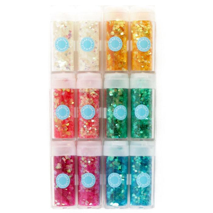 Martha Stewart Crafts Iridescent Hearts & Stars Glitter Set