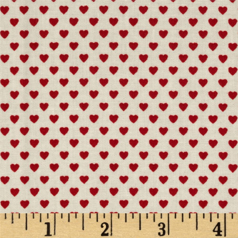 Victorian Paper Dolls Hearts Red