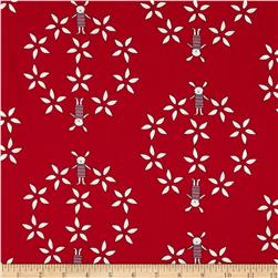 Ric Rac Rabbits Wreath Red