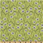 Cushion &amp; Dust Poppies Green