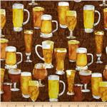 207358 Brewsky Beer Glasses Brown