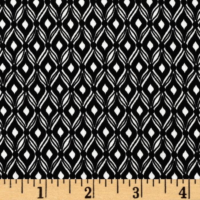 Modern Bliss Small Trellis Black