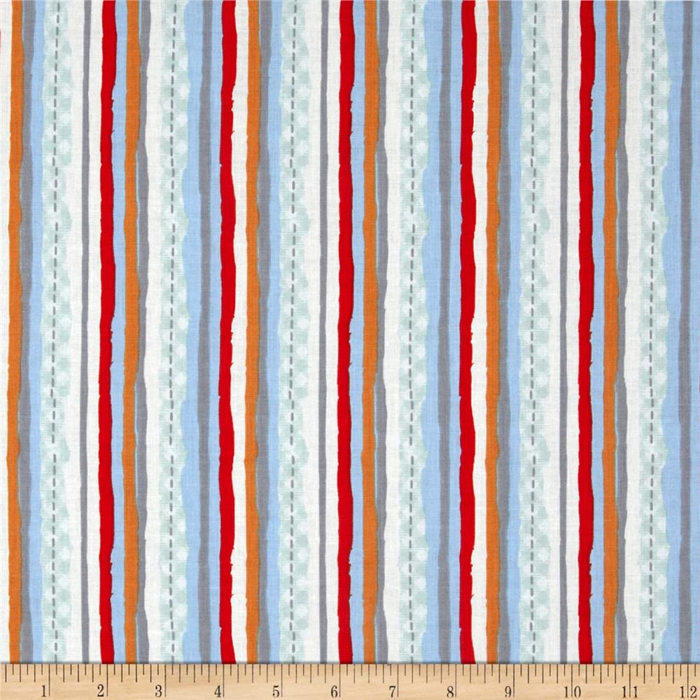 Amusement Park Stripe Light Blue