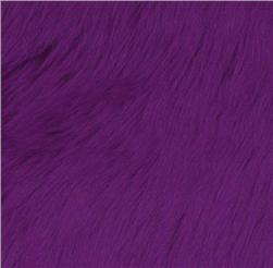 Faux Fur Luxury Shag Purple