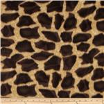 Wintry Fleece Giraffe Brown