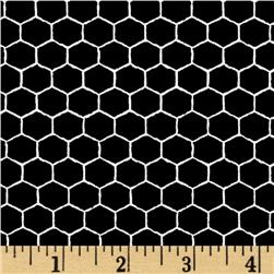Queen Bee Honeycomb Black/White