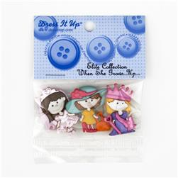 Dress It Up Embellishment Buttons  When She Grows Up
