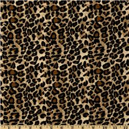 Large Leopard Tan/Black