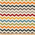 0297067 Nested Owls Chevron Stripe Charcoal/Multi