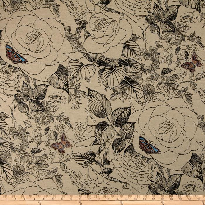 KasLen Sketches Jacquard Antique/Linen