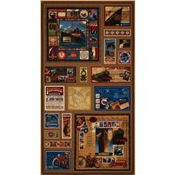 Transatlantique Transportation Panel Brown/Multi