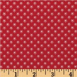 Riley Blake Ladybug Garden Flannel Petal Red