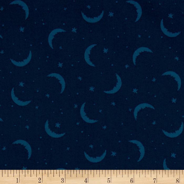 Goodnight Moon & Stars Teal