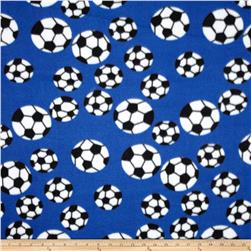 Fleece Soccer Balls Blue/White