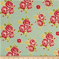 Riley Blake Sidewalks Flannel Floral Teal