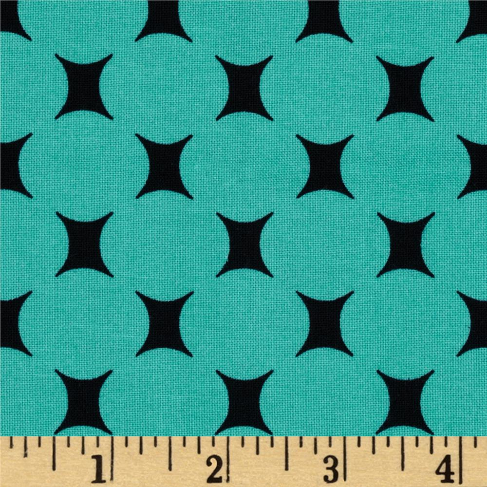 Michael Miller Mid-Century Modern Atomic Dot Turquoise