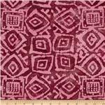 0269796 Indian Batik Block Patch Plum/Pink