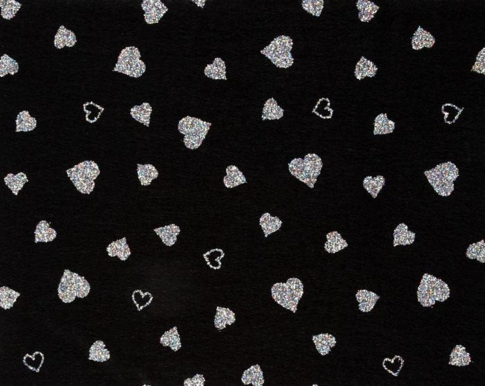Fanci Felt 9'' x 12'' Craft Cut Twinkle Heart Black
