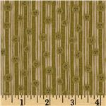FO-255 Christmastime Button Stripe Olive/Khaki