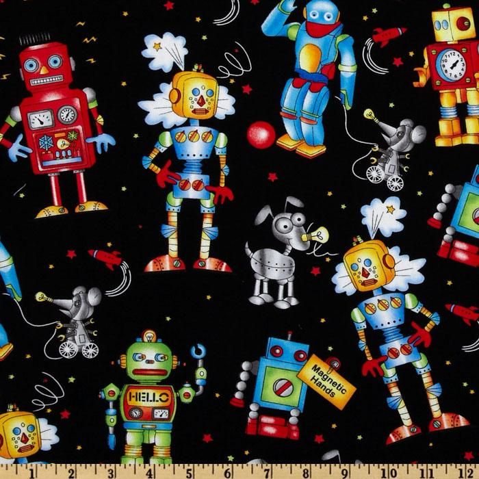 Robots, Robots, Robots Friends Black