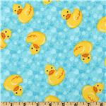 Comfy Flannel Ducks Aqua