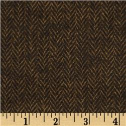 Primo Plaids Flannel Yarn Dyed Herringbone Small Umber