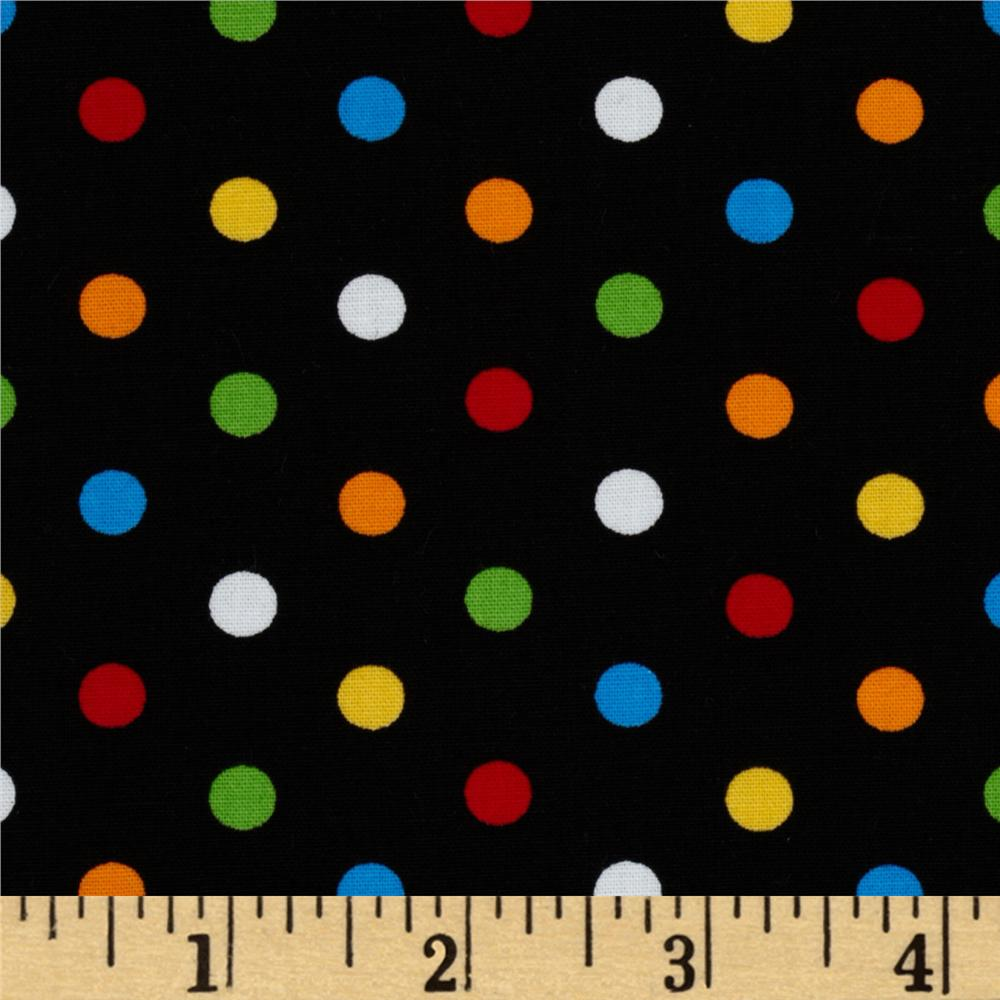 City Centre Polka Dots Black