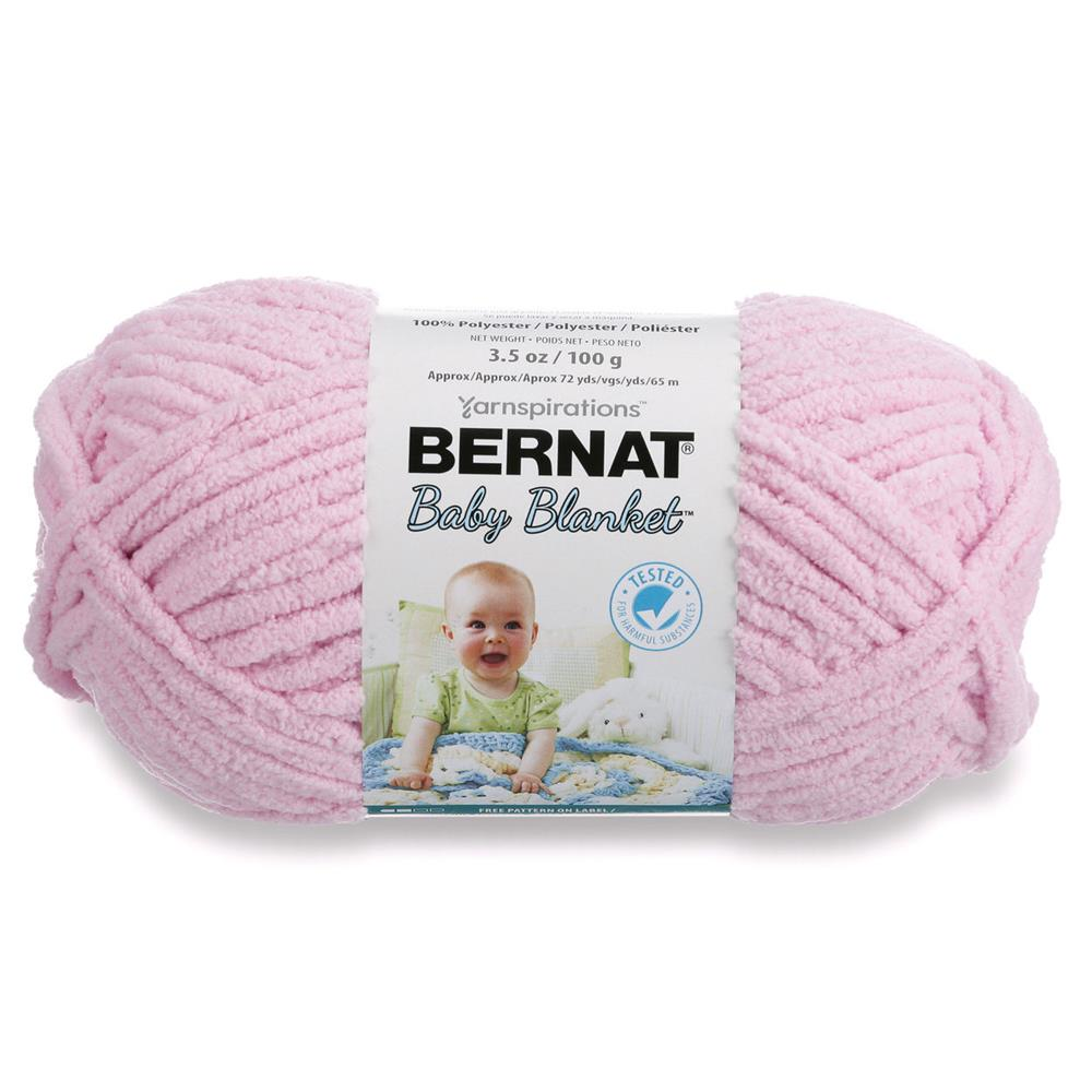 Bernat Baby Blanket Yarn (03200) Baby Pink