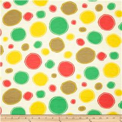 Designer Stretch Jersey Dots Green/Yellow