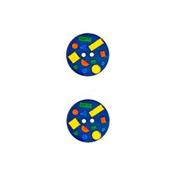 Dill Novelty Buttons 11/16'' Confetti Navy