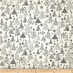 Winter Essentials Christmas Trees White/Black