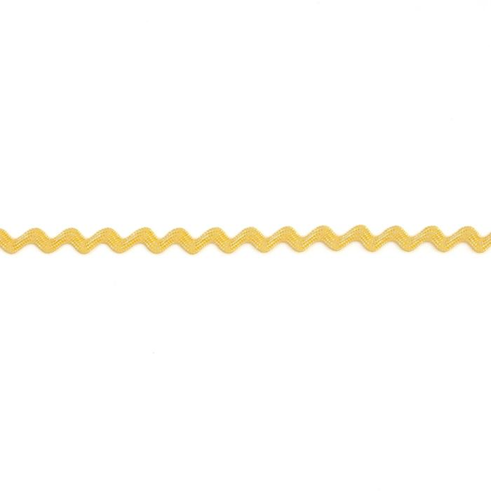 1/8&quot; Ric Rac Rayon Mini Trim Yellow