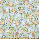 229519 Little Monkey Jungle Blue