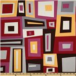 Kona Modern Quilts Wonky Boxes Merlot
