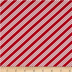 Holiday Helpers Diagonal Stripes Red
