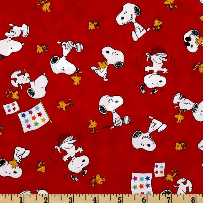 Peanuts-Project Linus Snoopy &amp; Woodstock Toss Red