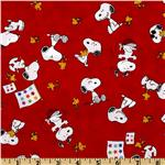 FR-820 Peanuts-Project Linus Snoopy & Woodstock Toss Red