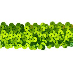 Team Spirit 1.25'' #66 Sequin Trim Lime