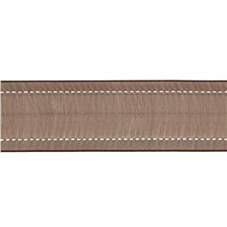 "1 1/2"" Sheer Stitched Edge Ribbon Brown"