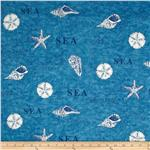 238631 Moda Seascapes Map Twill Blue