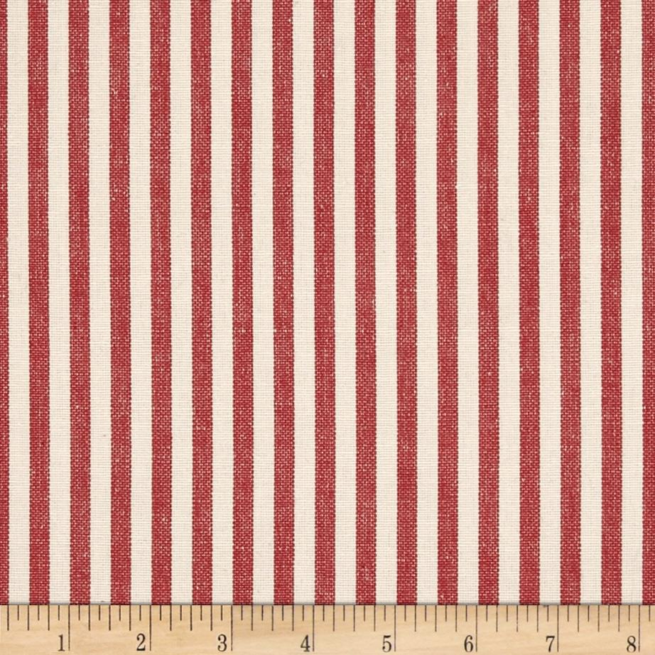 Benartex Home Patra Stripe Red/Off White