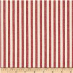 0286020 Benartex Home Patra Stripe Red/Off White