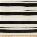 Designer Stretch Rayon Jersey Knit Vary Stripe Black/White